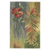 Kas Rugs Flower Watercolor Multi 5 ft. 3 in. x 8 ft. 3 in. Area Rug