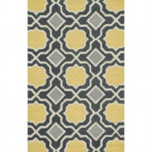Loloi Rugs Weston Lifestyle Collection Charcoal Gold 3 ft. 6 in. x 5 ft. 6 in. Area Rug