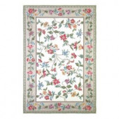 Kas Rugs Morning Vines Ivory 2 ft. 6 in. x 4 ft. 2 in. Area Rug