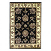 Kas Rugs Classic Mahal Black/Ivory 3 ft. 3 in. x 4 ft. 11 in. Area Rug