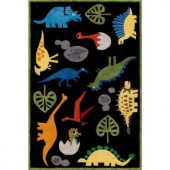 Momeni Caprice Collection Black 4 ft. x 6 ft. Area Rug