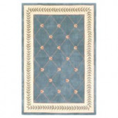 Kas Rugs French Trellis Wedgewood 2 ft. 6 in. x 4 ft. 2 in. Area Rug