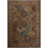 Rizzy Home Bellevue Collection Black and Tan 5 ft. 3 in. x 7 ft. 7 in. Area Rug