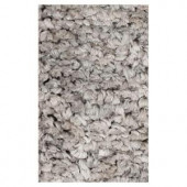 Kas Rugs Stocky Shag Grey 2 ft. 3 in. x 3 ft. 9 in. Area Rug