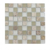 Splashback Tile Champs-Elysee Blend 1/2 in. x 1/2 in. Glass Tiles - 6 in. x 6 in. Tile Sample