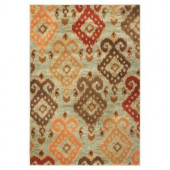 Kas Rugs Soft Ikat Blue 2 ft. 2 in. x 3 ft. 3 in. Area Rug