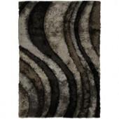 Chandra Flemish Grey/Black 5 ft. x 7 ft. 6 in. Indoor Area Rug