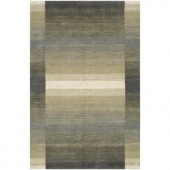 BASHIAN Contempo Collection Steel Lines Multi 2 ft. 6 in. x 8 ft. Area Rug