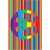 LA Rug Inc. Fun Time Groovy Peace Multi Colored 19 in. x 29 in. Area Rug