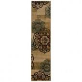 Oriental Weavers Camille Keaton Beige 1 ft. 10 in. x 7 ft. 6 in. Runner