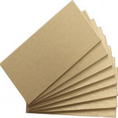 Instant Mosaic 6 in. x 3 in. Peel and Stick Brushed Champagne Metal Wall Tile (8 tiles/1 sq. ft. / pack)