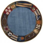 Momeni Caprice Collection Denim 5 ft. x 5 ft. Round Area Rug