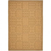 Safavieh Courtyard Gold/Natural 5.3 ft. x 7.6 ft. Area Rug