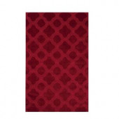 Morocco Red 3 ft. 6 in. x 5 ft. 6 in. Area Rug