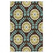 Kas Rugs Tapestry Weave Brown/Blue 2 ft. 3 in. x 3 ft. 9 in. Area Rug