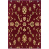 LR Resources Transitional Red Runner 1 ft. 10 in. x 7 ft. 1 in. Plush Indoor Area Rug