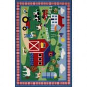 LA Rug Inc. Olive Kids Country Farm Multi Colored 19 in. x 29 in. Accent Rug