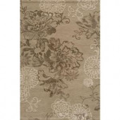 Momeni Passion Collection Light Taupe 2 ft. x 3 ft. Area Rug