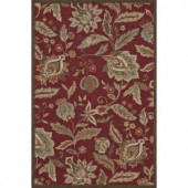 Loloi Rugs Summerton Life Style Collection Red 5 ft. x 7 ft. 6 in. Area Rug