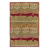 Kaleen Moods Bangalore Red 8 ft. x 10 ft. Area Rug