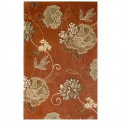 Kas Rugs Large Poppies Sienna 2 ft. 6 in. x 4 ft. 2 in. Area Rug
