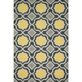Loloi Rugs Weston Lifestyle Collection Charcoal Gold 5 ft. x 7 ft. 6 in. Area Rug