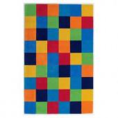 Kas Rugs Blocks Multicolor 7 ft. 6 in. x 9 ft. 6 in. Area Rug