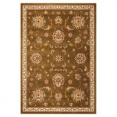 Kas Rugs Traditional Mahal Green 3 ft. 3 in. x 4 ft. 11 in. Area Rug