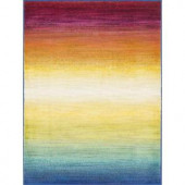 Loloi Rugs Lyon Lifestyle Collection Rainbow 3 ft. 9 in. x 5 ft. 2 in. Area Rug