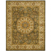 Safavieh Heritage Green/Taupe 9 ft. 6 in. x 13 ft. 6 in. Wool Area Rug