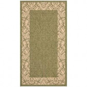 Safavieh Courtyard Olive/Natural 2 ft. x 3 ft. 7 in. Area Rug