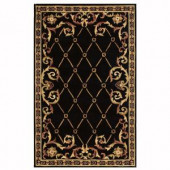 Home Decorators Collection Palisade Black 2 ft. x 3 ft. Area Rug