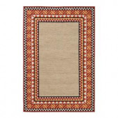 Home Decorators Collection Whimsy Orange 2 ft. x 3 ft. Area Rug