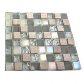 Splashback Tile Galaxy Blend 1/2 in. x 1/2 in. Marble And Glass Tile Squares - 6 in. x 6 in. Tile Sample