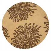 Home Decorators Collection Brunswick Beige 7 ft. 9in. Round Area Rug