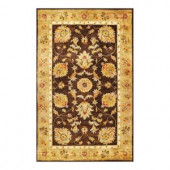 Kas Rugs Fashion Mahal Mocha/Gold 3 ft. 3 in. x 5 ft. 3 in. Area Rug