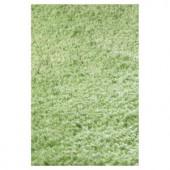 Kas Rugs Cushy Shag Green 9 ft. x 13 ft. Area Rug