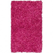 Shag Bright Pink 2 ft. 3 in. x 3 ft. 9 in. Accent Rug