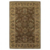 Kas Rugs Magesty Agra Mocha/Sand 3 ft. 6 in. x 5 ft. 6 in. Area Rug