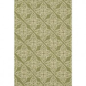 Loloi Rugs Summerton Life Style Collection Green Ivory 5 ft. x 7 ft. 6 in. Area Rug