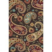 Loloi Rugs Summerton Life Style Collection Chocolate Multi 7 ft. 6 in. x 9 ft. 6 in. Area Rug