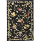 Home Decorators Collection Fruit Garden Black 2 ft. 9 in. x 4 ft. 9 in. Area Rug