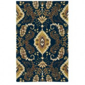 Home Decorators Collection Claudette Navy 5 ft. 3 in. x 8 ft. 3 in. Area Rug