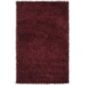Lavaca Maroon 2 ft. 6 in. x 4 ft. 2 in. Area Rug