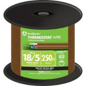 Southwire 18-5 Thermostat Wire - Brown (By-the-Foot)