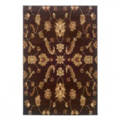 LR Resources Timeless Traditional Design in Brown 5 ft. 3 in. x 7 ft. 9 in. Indoor Area Rug