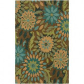 LR Resources Dazzle Taupe 7 ft. 9 in. x 9 ft. 9 in. Plush Indoor Area Rug