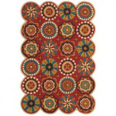 LR Resources Dazzle Red 7 ft. 9 in. x 9 ft. 9 in. Plush Indoor Area Rug