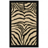 Mohawk Zebra Safari Black 2 ft. 6 in. x 3 ft. 10 in. Accent Rug