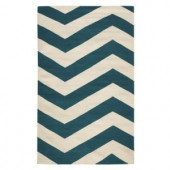 Home Decorators Collection Portia Teal/Cream 3 ft. x 5 ft. Area Rug